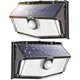 300 LED Solar Lights Outdoor, LITOM Solar Motion Sensor Security Lights with 270° Wide Angle, 3 Intelligent Lighting Mode,Eas
