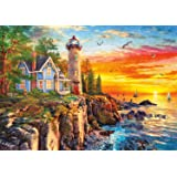 Buffalo Games - Rocky Cliff Lighthouse - 300 LARGE Piece Jigsaw Puzzle