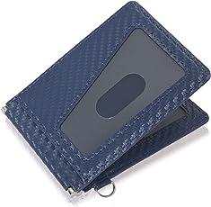 BLUE SINCERE 定期入れ メンズ パスケース バタフライ 両面 2枚 ふたつ折り セキュリティUPモデル 干渉防止 エラー防止 スリムタイプ 通勤 通学 PC2