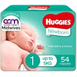 Newborn Nappies Size 1 (up to 5kg) 54 Count