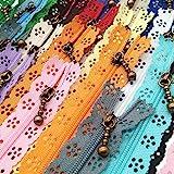 LNKA Lace Zippers Novelty 20pcs/Pack 3# End Zipper DIY Nylon Coil Flower Zipper for DIY Sewing Dress Tailor Craft Bed Bag Ran