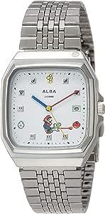 [セイコーウォッチ] 腕時計 アルバ ALBA(アルバ) マリオワールド コラボレーション スーパーファミコンマリオデザイン ACCK425 メンズ シルバー