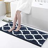 Olanly Luxury Bathroom Rugs Microfiber Bath Shower Mat, Machine Wash and Dry, Non-Slip Absorbent Shaggy Carpet Bath Mat for B