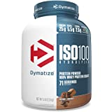 Dymatize Nutrition ISO 100, Whey Protein Isolate, Powder, Gourmet Chocolate, 5 lbs