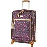 Steve Madden Designer Luggage Collection - Expandable 24 Inch Softside Bag - Durable Mid-sized Lightweight Checked Suitcase w