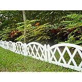 Worth Garden Plastic Fence Pickets Indoor Outdoor Protective Guard Edging Decor #3118