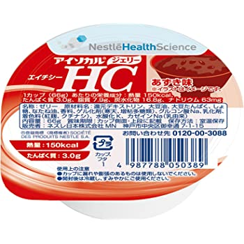 Nestle(ネスレ) アイソカル ジェリー HC あずき味 66g×24個