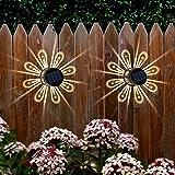 NEWNEN Solar Deck Lights,Solar Fence Lights Outdoor IP67 Waterproof Solar Wall Lights Lighting Decor for Garden, Path, Table,