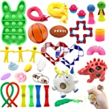 32 PCS Sensory Fidget Toy Set Stress Relief and Anti Anxiety Toys for Kids and Adult with Stretchy Sensory Toys,Sensory Thera