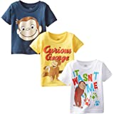 Curious George Little Boys' Toddler Boys T-Shirt 3-Pack, Assorted, 3T