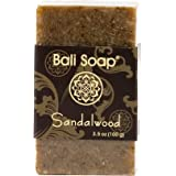 Bali Soap - Sandalwood Natural Soap Bar, Face or Body Soap Best for All Skin Types, For Women, Men & Teens, Pack of 3, 3.5 Oz