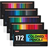 Shuttle Art 172 Colored Pencils, Soft Core Color Pencil Set for Adult Coloring Books Artist Drawing Sketching Crafting