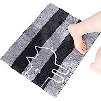 オカ(OKA) 浴室足ふきマット グレー 約45cm×60cm うちねこ バスマット
