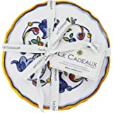 Le Cadeaux Melamine Capri - Set of 4 Appetizer Plates