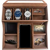 TABI Valet Tray for Men and Women—Includes 10 Compartments—Stores Small and Valuable Items—Unisex Velvet Jewelry Box with Cel