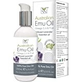 100% Pure Pharmaceutical Grade Emu Oil Infused with Lavender Essential Oil (200ml)