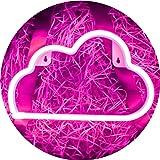 LED Pink Cloud Neon Light, Cute Neon Cloud Sign, Room Decor Battery or USB Powered 4.5V Art LED Decorative Lights Night Light