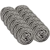 12 Pack Stainless Steel Scourers by Scrub It - Steel Wool Scrubber Pad Used for Dishes, Pots, Pans, and Ovens. Easy scouring