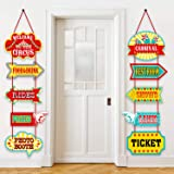 Blulu Carnival Decorations, Laminated Circus Carnival Signs Circus Theme Party Signs Carnival Party Supply Decor Paper Cutout