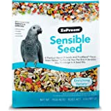 ZuPreem Sensible Seed Bird Food for Parrots and Conures, 2 lb bag (2-pack) - Premium Blend of Seeds and FruitBlend Pellets fo