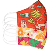 Printed Fabric Cloth Face Mask Reusable Washable Filter Nose Wire Pocket