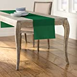 LA Linen Polyester Poplin Table Runner, 14 by 108-Inch, Green Emerald