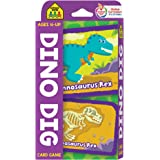 School Zone - Dino Dig Card Game - Ages 4+, Preschool to Kindergarten, Dinosaurs, Dinosaur Names, Counting, Matching, Vocabul