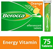 Berocca Energy Vitamin, Orange - 75 Effervescent Tablets