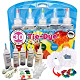 𝐓𝐈𝐄 𝐃𝐘𝐄 𝐏𝐀𝐑𝐓𝐘 𝐊𝐈𝐓, 5 Colours to Create Rainbow Magic for Up to 30 Projects, Tie Dye Kit for Kids Parties, Craft