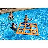 Poolmaster Tic Tac Toe Game Orange/Blue (Reversible)
