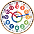 Learning Clock for Kids - Telling Time Teaching Clock - Kids Wall Clocks for Bedrooms - Kids Room Wall Decor - Silent Analog