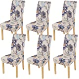 smiry Stretch Printed Dining Chair Covers, Spandex Removable Washable Dining Chair Protector Slipcovers for Home, Kitchen, Pa