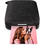 "HP Sprocket Portable 2x3"" Instant Photo Printer (Black Noir) Print Pictures on Zink Sticky-Backed Paper From Your iOS & Andro"