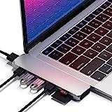 Satechi Type-C アルミニウム Proハブ (シルバー) MacBook Pro 2016以降, MacBook Air 2018以降対応 40Gbs USB-C PD 4K HDMI Micro/SDカード USB 3.0ポート×2 マ