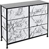 Sorbus Dresser with 6 Drawers - Furniture Storage Chest Tower Unit for Bedroom, Hallway, Closet, Office Organization - Steel