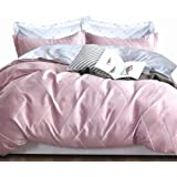 Essina Cotton Double Bed Quilt Cover Duvet Cover Doona Cover Set 3pc Valencia Collection 620 Thread Count, Pillow Sham, Taffy