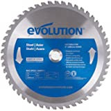 Evolution Power Tools 8BLADEMS Steel Cutting Saw Blade, 8-Inch x 50-Tooth