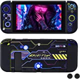 DLseego Dockable Protective Case Compatible with Nintendo Switch, Newest Pattern Cover with Anti-Scratch and Shock-Absorption