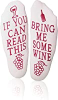 Wine Down Socks Unique Thick Cozy Funny Non-Slip Bring Me Some Wine Novelty Gift Ankle Socks, Perfect Gift For Men...