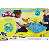 Hasbro B9023 Play-Doh- Play 'n Store Table inc 6 Tubs of Dough & Accessories- Sensory and educational Toys for kids, boys, gi