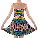 Rainbow Rules Ragdoll Patchwork Sally Sweetheart Skater Dress Strapless