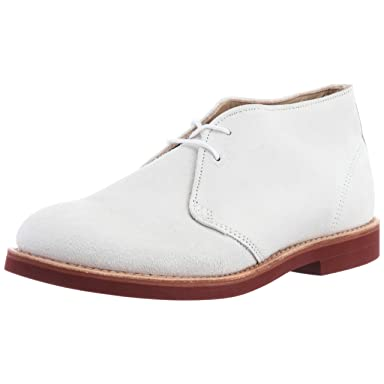 Walk-Over Chukka Classic 2-Eye Boot: White Suede
