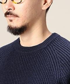 Wool Rib Crewneck Sweater 1213-106-3012: Navy