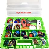 HOME4 BPA Free Display Storage Container Box, Compatible with Mini Toys, Small Dolls, Tools Beyblade, Heavy Duty Organizer Ca