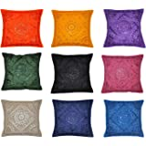 Indian Decor Handmade Cotton Cushion Cover Pillow Covers 16 X 16 Inches 10 Pcs Lot