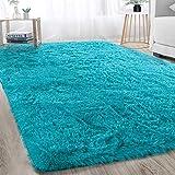 Soft Modern Indoor Shaggy Area Rug for Bedroom Livingroom Dorm Kids Room Home Decorative, Non-Slip Plush Fluffy Furry Fur Rug