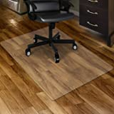 """Kuyal Clear Chair mat for Hard Floors 30 x 48 inches Transparent Floor Mats Wood/Tile Protection Mat for Office & Home (30"""" X"""