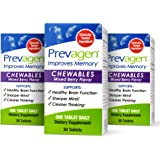 Prevagen Improves Memory - Regular Strength 10mg, 30 Chewables |Mixed Berry-3 Pack| with Apoaequorin & Vitamin D | Brain Supp
