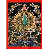 Interact China Tibetan Thangka Thangka Buddha Buddhist Art Thangka Mineral Painting #084
