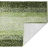 DEARTOWN Non-Slip Shaggy Bathroom Rug,Soft Microfibers Bath Mat with Water Absorbent, Machine Washable(Multicolor-Green,15x23